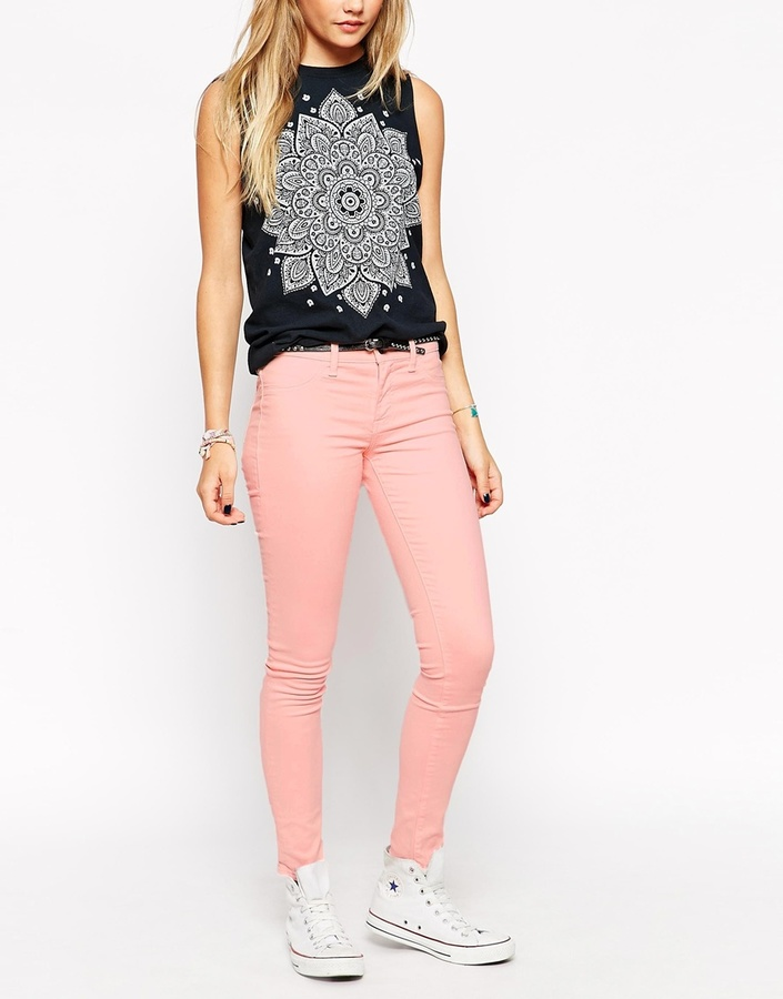 b989f19e8d ... Wildfox Couture Wildfox Marianne Light Pink Skinny Jeans ...
