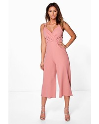 Boohoo Beth Ring Detail Culotte Jumpsuit