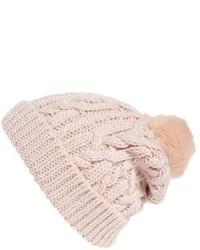 Pink Knit Beanie