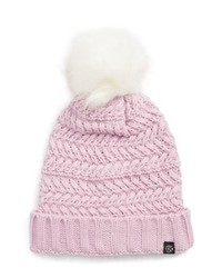 Treasure & Bond Cable Knit Beanie With Faux