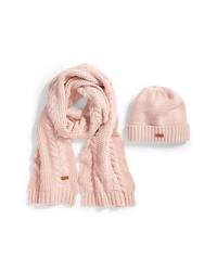 Barbour Cable Knit Hat Scarf Set