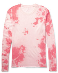 Pink Knit Crew-neck Sweater