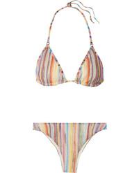 Missoni Mare Metallic Crochet Knit Triangle Bikini