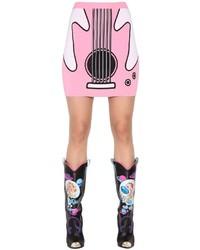 Jeremy scott guitar jacquard rayon knit mini skirt medium 754771