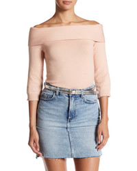 Abound Off The Shoulder 34 Length Sleeve Sweater