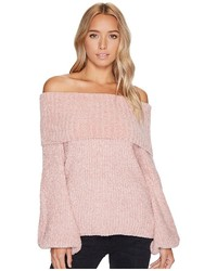 Brigitte Bailey Gisselle Ribbed Off The Shoulder Sweater Sweater