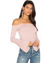Michael Lauren Michl Lauren Hyatt Off Shoulder Bell Sleeve Top
