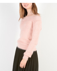 Pink off shoulder sweater medium 6860505