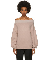 Opening Ceremony Pink Wool Off The Shoulder Sweater