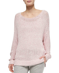 Chunky knit drop sleeve sweater medium 328488
