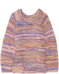 Michl kors collection oversized mohair and wool blend sweater medium 846828