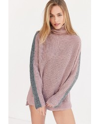 Silence & Noise Silence Noise Racer Stripe Turtleneck Sweater