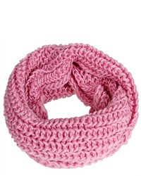 Bundle Monster Bmc Solid Pink Color Warm Chunky Infinity Loop Crochet Knitted Scarf