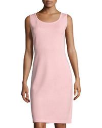 Santana scoop neck knit tank dress pink medium 3717442