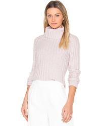Brown Allan Ribbed Turtleneck Sweater