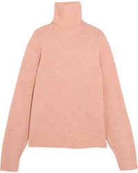 Knitted turtleneck sweater blush medium 5259007