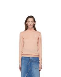 Loewe Pink Cashmere Anagram Turtleneck