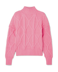 J.Crew Tucker Cable Knit Cotton Blend Sweater