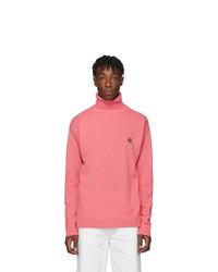 Pink Knit Wool Turtleneck