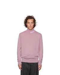 Gcds Pink Logo Turtleneck