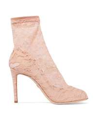 Dolce & Gabbana Stretch Lace And Tulle Sock Boots