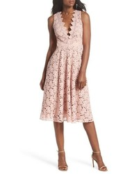 Ashley guipure lace fit flare dress medium 8827629