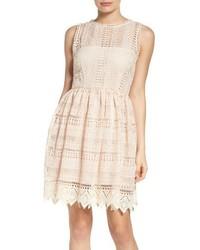 BB Dakota Elissa Lace Fit Flare Dress