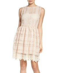 Elissa lace fit flare dress medium 1249639