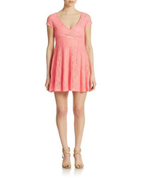 Jessica Simpson Kaitlee Lace Fit And Flare Dress