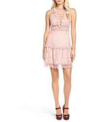 Glamorous Lace Fit Flare Dress