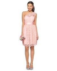 Tevolio Scalloped Lace One Shoulder Bridesmaid Dress Tevolio
