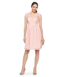Tevolio Scalloped Lacechiffon V Neck Bridesmaid Dress W Back Cutout