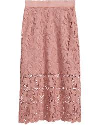 H&M Lace Skirt Powder Pink Ladies