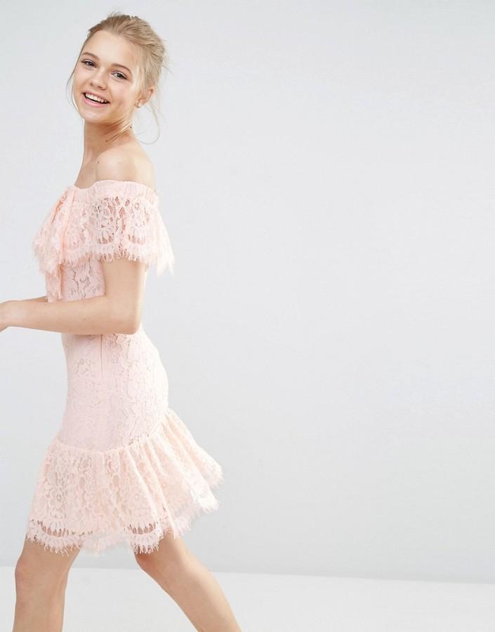 42 Endless Rose Lace Off The Shoulder Dress