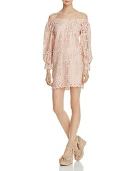 Ministry Of Style Lattice Off The Shoulder Lace Dress