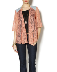 Love riche salmon boho cardi medium 222460