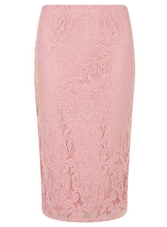 a702e712d9 ... Pencil Skirts Dorothy Perkins Alice You Light Pink Lace Fit Midi Skirt