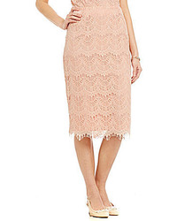 Preston & York Tera Scalloped Lace Pencil Skirt