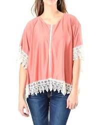 Do everything in love lace trim poncho medium 706272