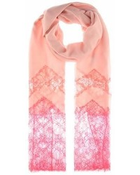 Valentino Cashmere Blend And Lace Scarf