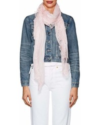 Faliero Sarti Rosy Lace Trimmed Gauze Scarf
