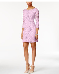 Vince Camuto Three Quarter Sleeve Lace Sheath Dress