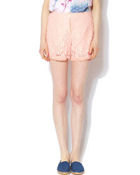 N. Tea N Rose Blush Lace Shorts