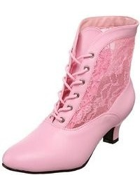 Pink lace up ankle boots original 9286667