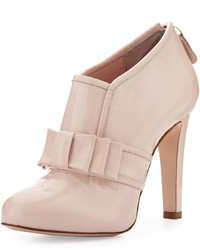 RED Valentino Bow Front Patent 105mm Bootie Light Pink