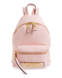 Moschino Logo Leather Backpack