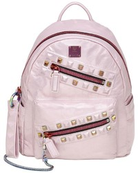 MCM Small Rebel Tumbled Leather Backpack