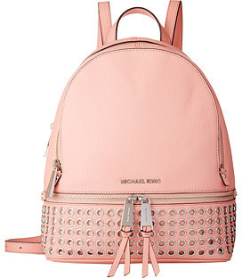 4a7af7ed3a54 ... Pink Leather Backpacks MICHAEL Michael Kors Michl Michl Kors Rhea Zip  Extra Small Grommet Backpack ...