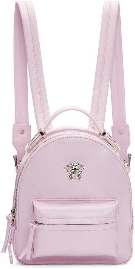 51f5111e $1,895, Versace Pink Medusa Mini Backpack