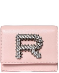 Rochas Leather Bag W Crystal Logo